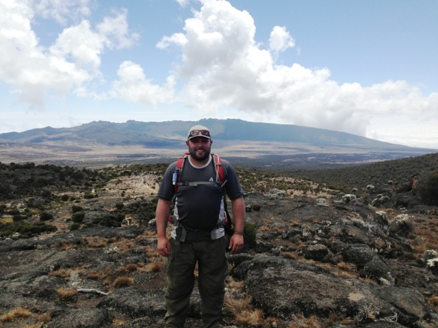Between Shira 1 Camp and Moir Camp on the third day of the #Climb4Cord.