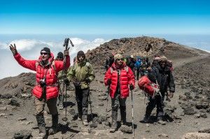 The first #Climb4Cord group reaches the summit of Mt. Kilimanjaro just before 2pm local time on August 12th, 2013.